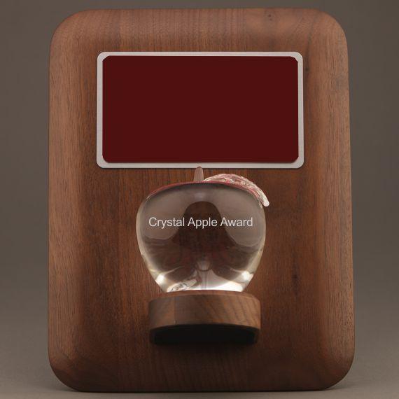 Teacher Retirement Crystal Apple Plaque - Apple Personalization