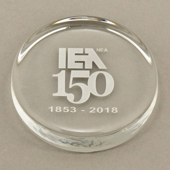 Custom Etched Crystal Paperweight for Teacher Recognition Week