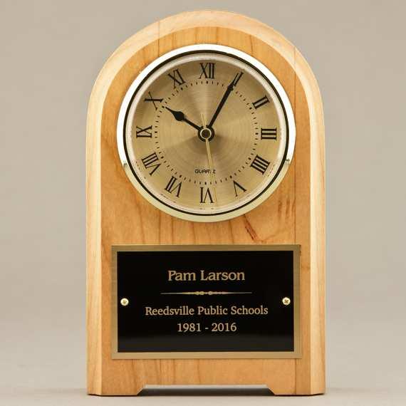 Teacher Appreciation Cute Mantel Clock or Wooden Desk Clock - Personalization Included