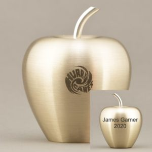Golden Apple with Etching or Engraving on Both Sides