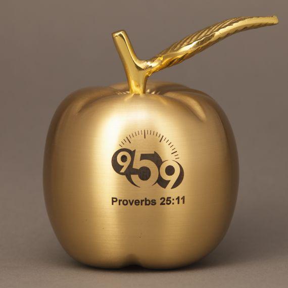 Brass Apple Engraved