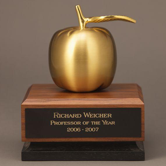 Custom Golden Apple Desk Award