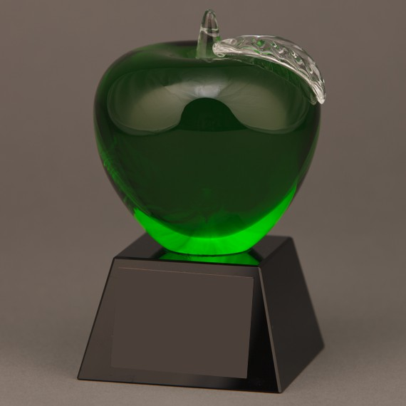 Green Crystal Apple Trophy as an Appreciation Gift Idea