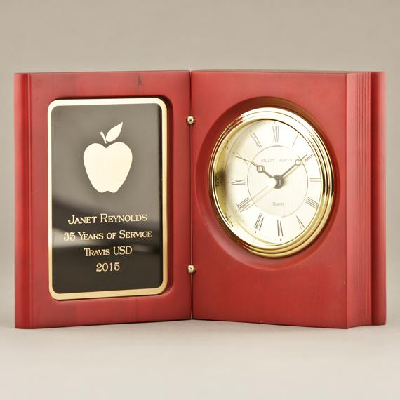 Teacher Appreciation Cute Mantel Clock or Small Desk Clock - Personalization Included