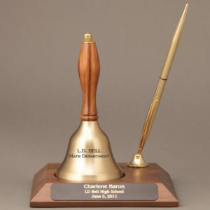 Personalized Hand Bell Trophy for a Teachers Day Gift Idea