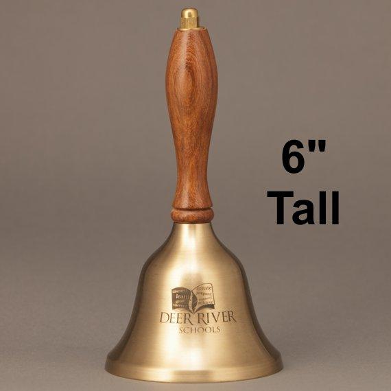Teacher Retirement Appreciation Hand Bell with Walnut Handle - Personalization