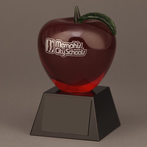 custom-etched-red-crystal-apple-trophy-no-engraving
