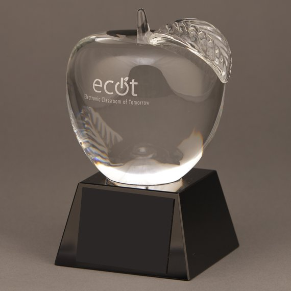 Custom Personalized Crystal Apple Trophy