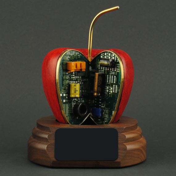 Red Tech Apple - A Unique Gift Idea for Computer Specialists - No Personalization