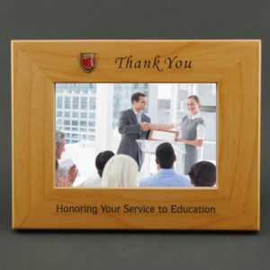 Honoring your service to education wood frame for teacher appreciation day