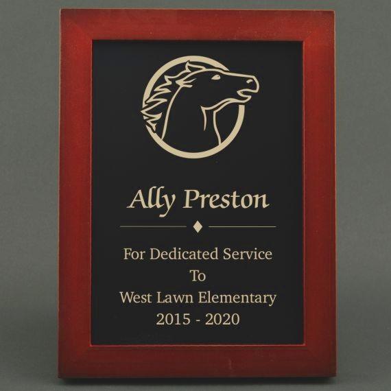 5-3/4 x 7-3/4 Teacher Appreciation Slate Board Plaque for Service Anniversary - Personalization Included