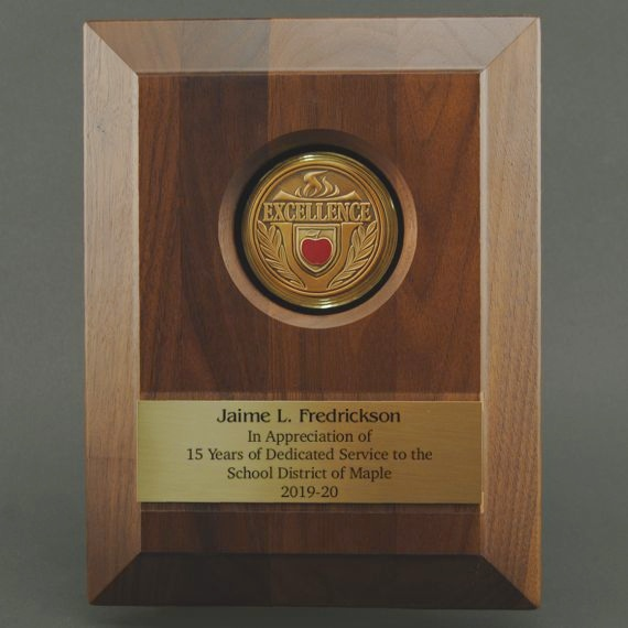 Custom Medallion Plaque of Excellence - Personalized Plate