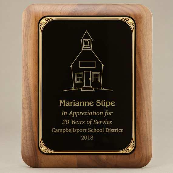 Educator Appreciation Custom Engraved Wall Plaque - 8x10