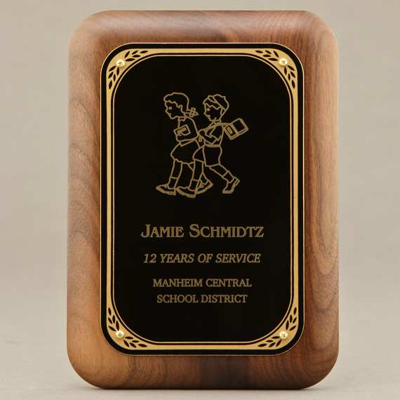 Teacher Appreciation Excellence Plaque With Engraving