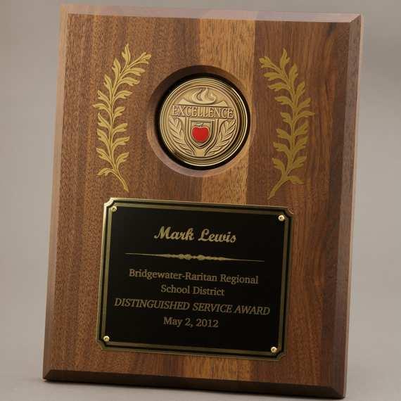 Large Laurel Leaf Educator Recognition Plaque - 8x10 - Personalization Included