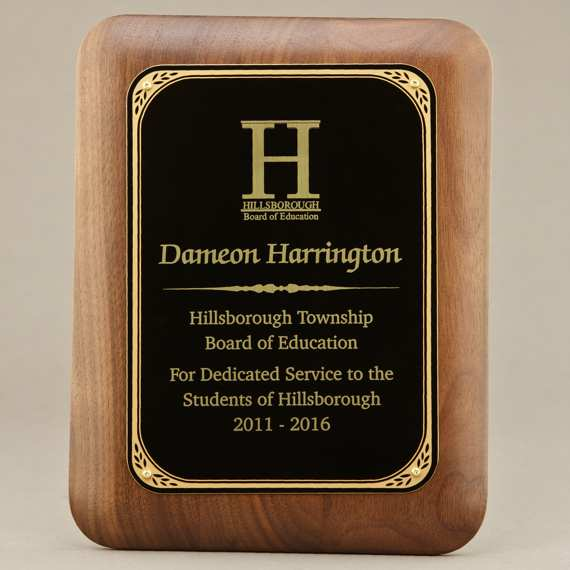 Teacher Recognition Custom Engraved Wall Plaque - 7x9