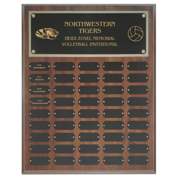 Employee of the Year Perpetual Plaque Laser Engraved - 45 Plate