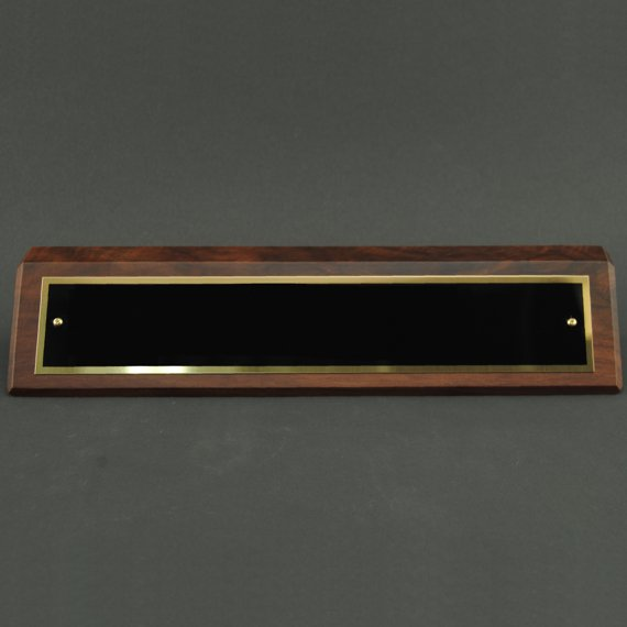 Desk Wedge with Name Plate with - Non-Engraved