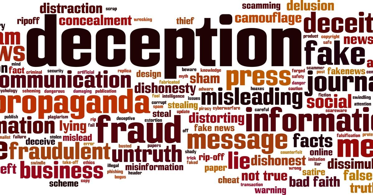 Deception Word Cloud Design