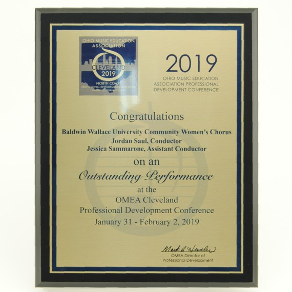 Personalized Plaque of Appreciation with Metal Plate - MVPCD8x10B