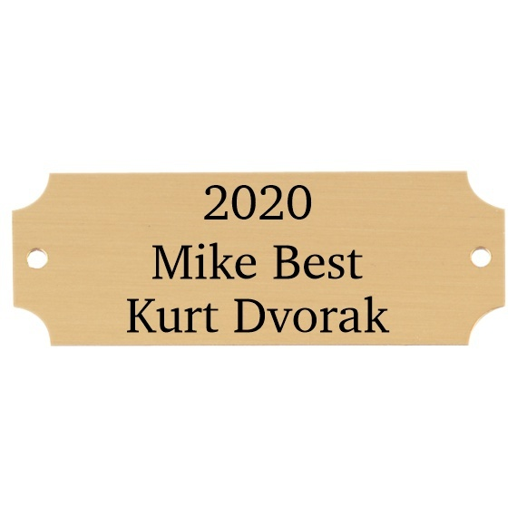"""Purchase Gold Perpetual Plaque Plate with Engraving - 7/8"""" x 2-1/2"""""""