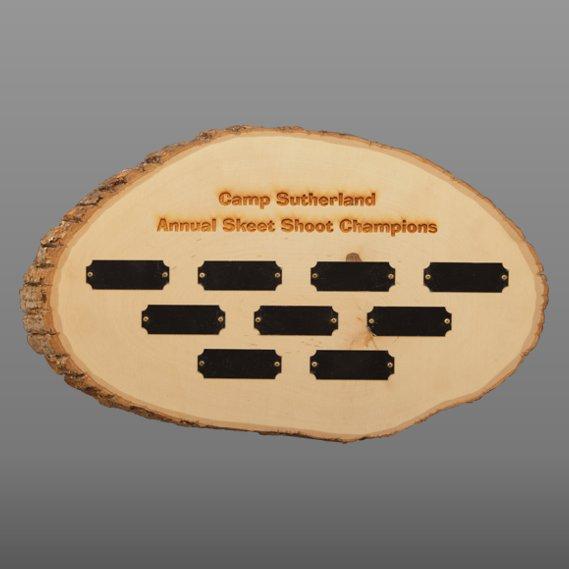 Rustic Wall Decor Natural Wood Disc - 9 Perpetual Plates