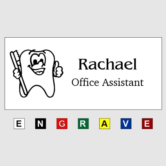 Personalized Plastic Name Tags for Work - Businesses and Schools - 1-1/2x3