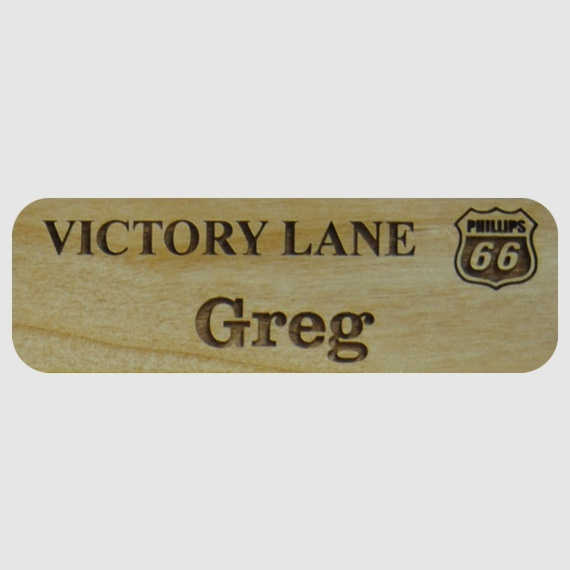 Personalized Wood Name Tags for Work - Businesses and Schools - 1x3