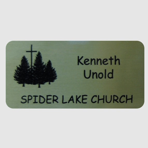 Personalized Metal Name Tags for Work - Businesses and Schools - 2x3