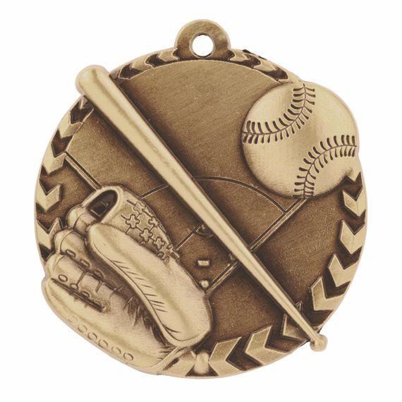 Gold Baseball Sports Medal to Show Teamwork Appreciation or Baseball Coaching Gift
