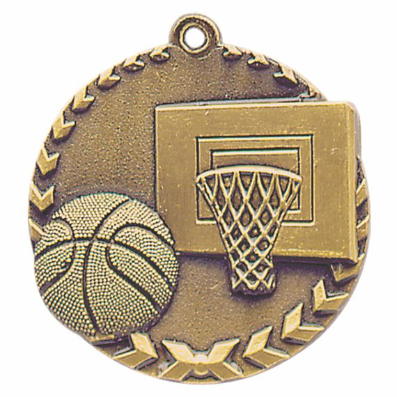 Gold Basketball Sports Medal to Show Teamwork Appreciation or Basketball Coaching Gift