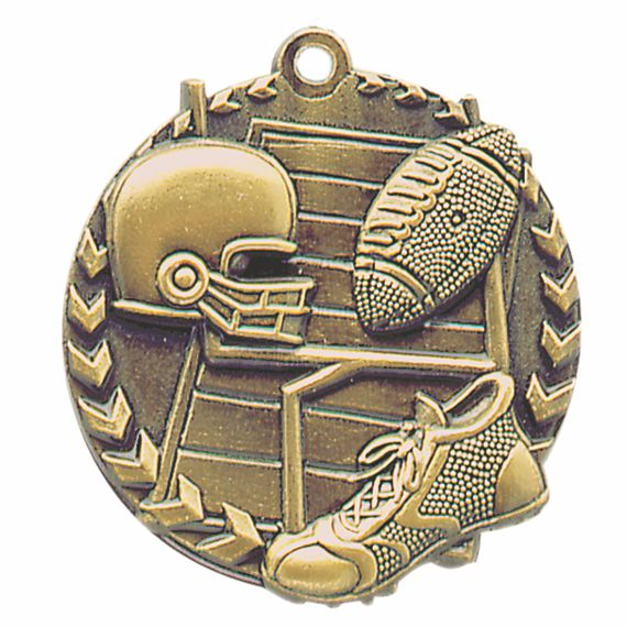 Gold Football Medal to Show Teamwork Appreciation or Football Coaching Gift