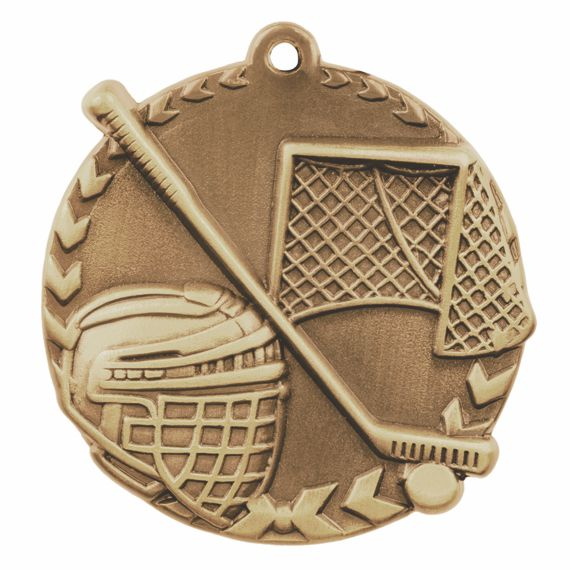 Gold Hockey Medal to Show Teamwork Appreciation or Hockey Coaching Gift