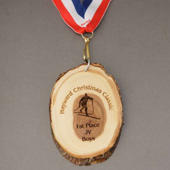 Natural Wood Disc Medal to Show Teamwork Appreciation or Personalized Coaching Gift