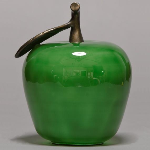 Large Green Glass Apple Handblown Appreciation Gift - Non-Engraved